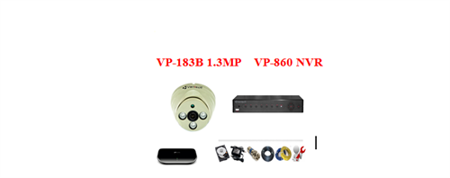 Camera Vantech IP 1.3mp ( Trọn bộ 1 camera)